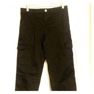 NWOT Justice Black Cargo Pants, Relaxed Fit